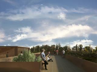 """Nuove residenze_progetto finalista concorso """"living the collective"""" hornachuelos, Spagna: Terrazza in stile  di Architetto Maria Grazia Gai, Mediterraneo"""