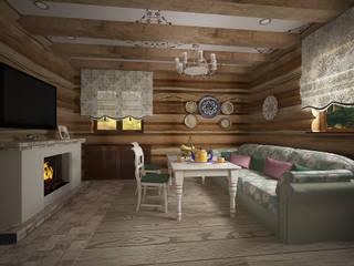 Гостевой домик Столовая комната в стиле кантри от студия Виталии Романовской Кантри