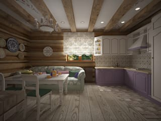 Country style kitchen by студия Виталии Романовской Country