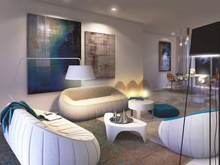 Biendesign Pracownia Wnętrz Salones de estilo moderno