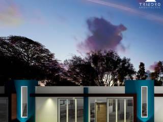 UNIFAMILIARES INDIANA: Casas de estilo  por TRIEDROARQUITECTOS, Minimalista