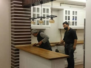 REYHAN MUTFAK I BANYO I DEKORASYON – ANAHTAR TESLİM VİLLA TADİLATI:  tarz Ankastre mutfaklar