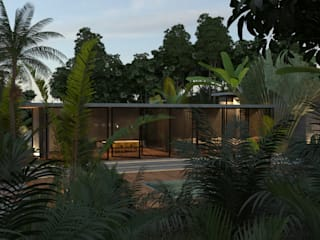 CASA PALMERA: Casas de estilo  por JSM Arquitectos