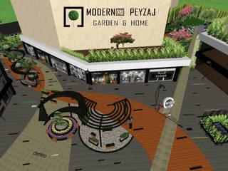 Centro Konutları Tasarım Aşaması Modern Bahçe modernist peyzaj Modern
