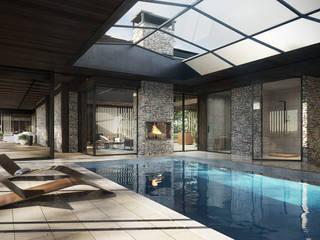 Piscinas modernas por TISSU Architecture Moderno