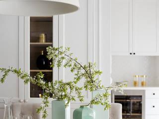 Mediterranean style dining room by TISSU Architecture Mediterranean