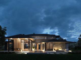 Dom typowy Kalifornia House 232 + 55m garaż od TISSU Architecture Nowoczesny