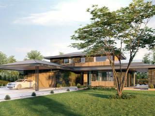Dom typowy Kalifornia House 232 + 55m garaż Nowoczesne domy od TISSU Architecture Nowoczesny