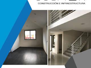 JOSMAR CONSTRUCCIÓN E INFRAESTRUCTURA Corredores, halls e escadas modernos Branco