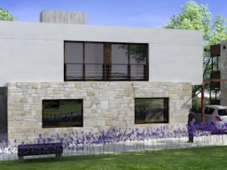 DUPLEX EN MIRAMAR: Casas de estilo  por ENTASIS ARQUITECTURA  -    DISEÑO  Y  CONSTRUCCIÓN