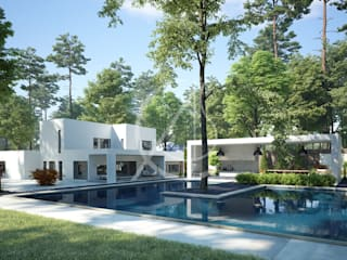 Garden Pool by Comelite Architecture, Structure and Interior Design ,
