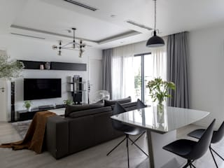 Căn hộ phong cách Avalo Đương Đại Phòng khách phong cách Bắc Âu bởi Công ty cổ phần NỘI THẤT AVALO Bắc Âu