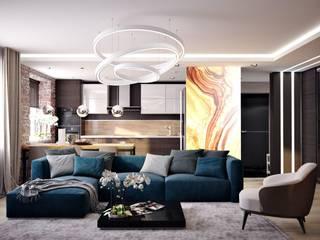 Дизайн квартир, домов, офисов: Гостиная в . Автор – студия дизайна интерьров ARK Design ('АРК Дизайн'),