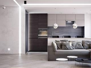 Дизайн квартир, домов, офисов: Кухни в . Автор – студия дизайна интерьров ARK Design ('АРК Дизайн')