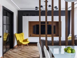 Дизайн интерьера квартиры: гостиная, совмещенная с кухней: Гостиная в . Автор – Студия Инстильер | Studio Instilier