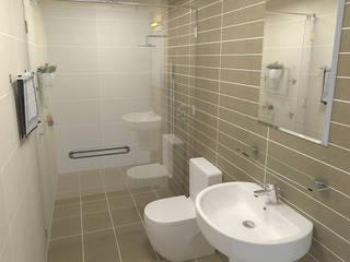 Tư Vấn Thiết Kế Xây Nhà 2 Tầng Có Sân Thượng Với Chi Phí 640 Triệu:  Phòng tắm by Công ty TNHH Xây Dựng TM – DV Song Phát