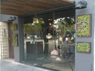 Diseño e intervención de Fachada - Local Comercial Paredes y pisos modernos de Laura Vidal Estudio de Paisajismo - Interiorismo Moderno