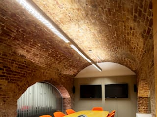 JKR Offices, London:  Office buildings by Claire Spellman Lighting Design, Modern