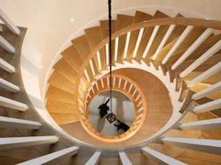 Private residence, Hampshire:  Stairs by Claire Spellman Lighting Design, Country