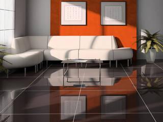 Pavimento: Pavimento in stile  di Shiny Glass Tiles