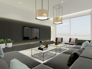 dom jednorodzinny 2: styl , w kategorii Salon zaprojektowany przez Inspired Design