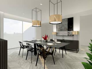 dom jednorodzinny 2: styl , w kategorii Jadalnia zaprojektowany przez Inspired Design