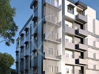 Modern Apartment Exterior Design:  Multi-Family house by Comelite Architecture, Structure and Interior Design