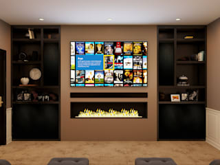Kensington Basement Home Cinema Custom Controls Classic style living room