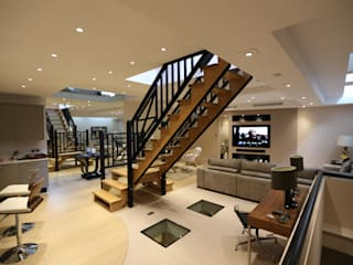 Crestron Installation in South Kensington, London:  Living room by Custom Controls