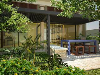 Terraza AD: Terrazas de estilo  por Sitma Arquitectura