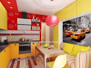 Kitchen by Архитектурное Бюро 'Капитель', Eclectic