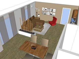 VISUAL BUHO Homestaging & Redesign Salas de estilo moderno