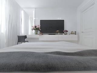 Спальня в светлых тонах: Спальни в . Автор – EPdesign