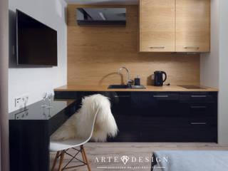 Pensjonat w Sopocie - apartamenty: styl , w kategorii Hotele zaprojektowany przez Arte Dizain. Agnieszka Hajdas-Obajtek