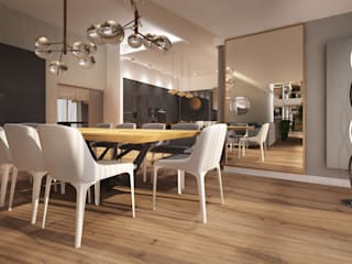 Gdański penthouse: styl , w kategorii  zaprojektowany przez Arte Dizain. Agnieszka Hajdas-Obajtek