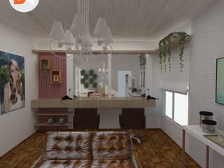 Projeto de Interiores Salão AF - Anderson Ferreira: Espaços comerciais  por DA.rquitetura,Escandinavo