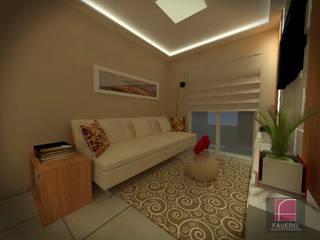 Fávero Arquitetura + Interiores Salones de estilo moderno