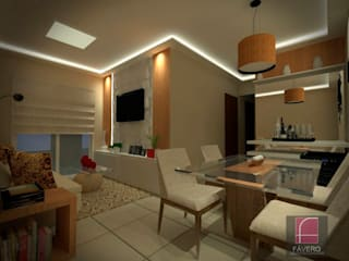 Comedores de estilo  de Fávero Arquitetura + Interiores, Moderno