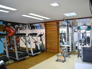 Joana Rezende Arquitetura e Arte Modern gym Wood effect