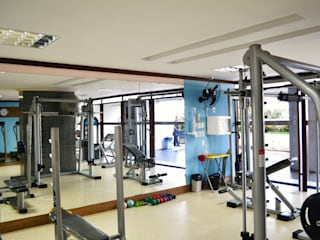Academia em condomínio Residencial Fitness moderno por Joana Rezende Arquitetura e Arte Moderno