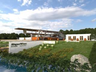 VISTA GERAL DO EMPREENDIMENTO: Centros de exposições  por Arbisland Arquitectura & Design