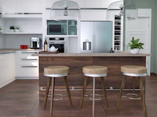 homify KitchenTables & chairs Wood Beige