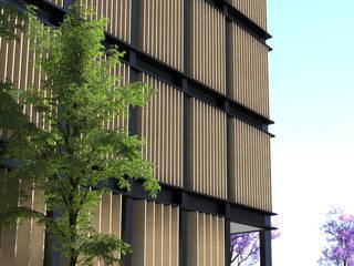 Fachada lateral : Hoteles de estilo  por JSM Arquitectos
