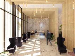 Lobby Hotel: Hoteles de estilo  por JSM Arquitectos