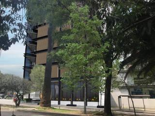 Fachada Hotel: Hoteles de estilo  por JSM Arquitectos