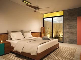 Casa 1+1: Recámaras de estilo moderno por Sitma Arquitectura