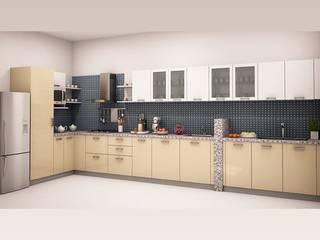 Aberto-l-shaped-modular-kitchen:   by HomeLane.com