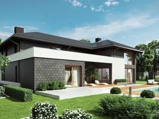 Дома на одну семью в . Автор – HomeKONCEPT | Projekty Domów Nowoczesnych