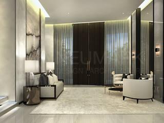 Minimalist corridor, hallway & stairs by NEUMARK Minimalist