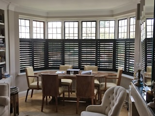 A stunning full house project just off Putney. Plantation Shutters Ltd Living roomAccessories & decoration Kayu Black